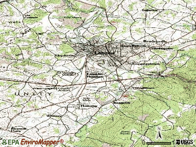 Lawson Heights topographic map