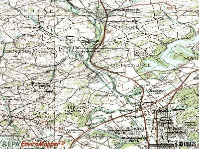 Leesport topographic map