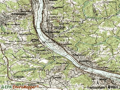 Leetsdale topographic map