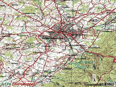 Leith-Hatfield topographic map