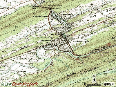 Lewistown topographic map