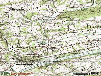 Lightstreet topographic map