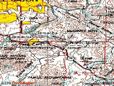 Jamul topographic map