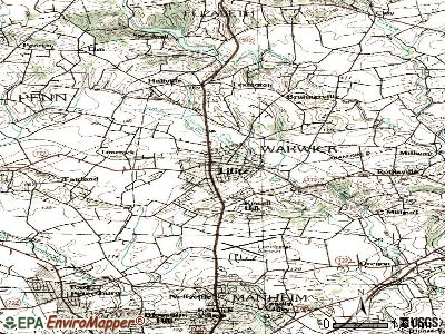 Lititz topographic map