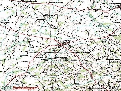 Littlestown topographic map