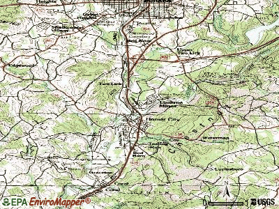 Lucerne Mines topographic map