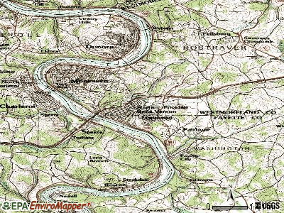 Lynnwood-Pricedale topographic map