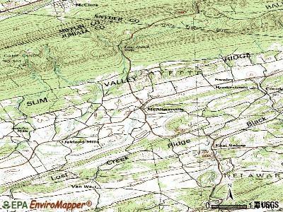 McAlisterville topographic map