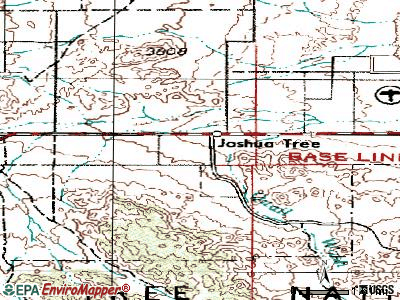 Joshua Tree topographic map