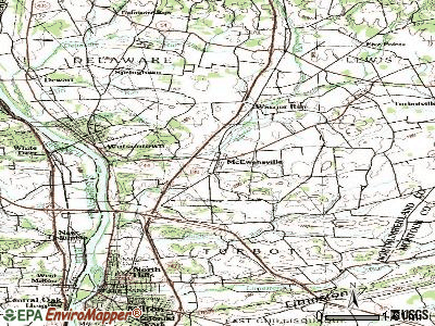 McEwensville topographic map