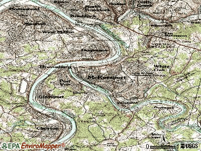 McKeesport topographic map