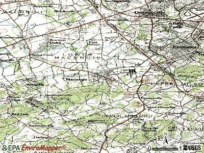 Macungie topographic map