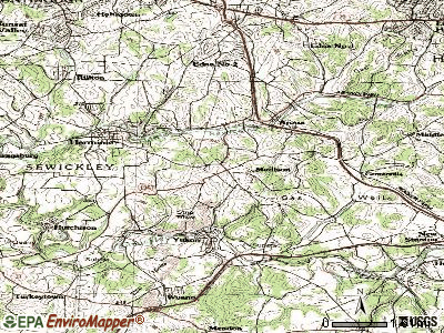 Manchester topographic map