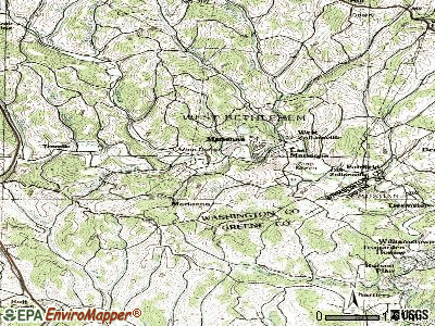 Marianna topographic map
