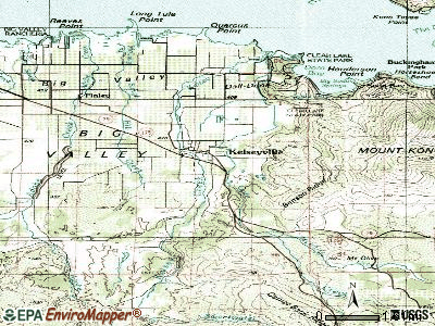 Kelseyville topographic map