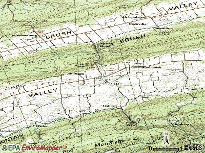 Millheim topographic map