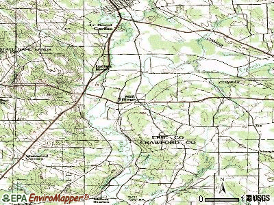 Mill Village topographic map
