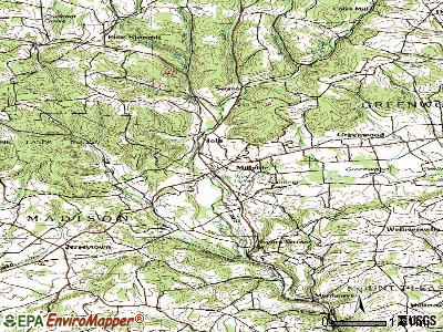 Millville topographic map