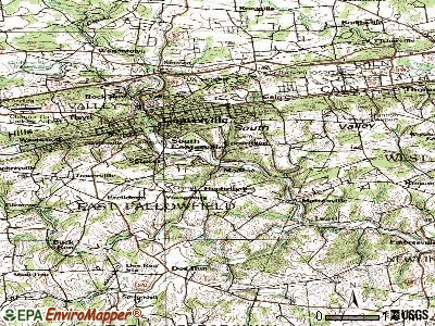 Modena topographic map
