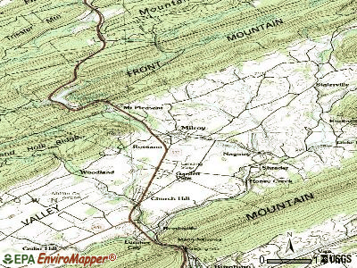 Monongahela topographic map