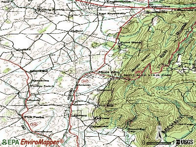 Mont Alto topographic map