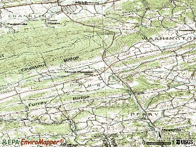 Mount Pleasant Mills topographic map