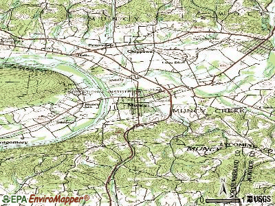 Muncy topographic map