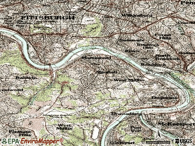 Munhall topographic map