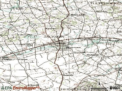 Myerstown topographic map