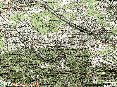 Narberth topographic map