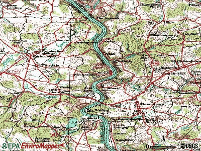 Nemacolin topographic map