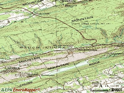 Nesquehoning topographic map