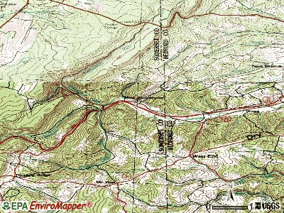New Bethlehem topographic map