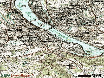 New Cumberland topographic map