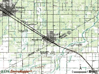Kingsburg topographic map