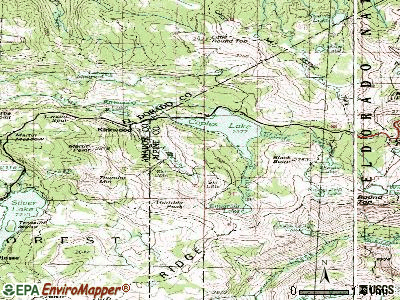 Kirkwood topographic map