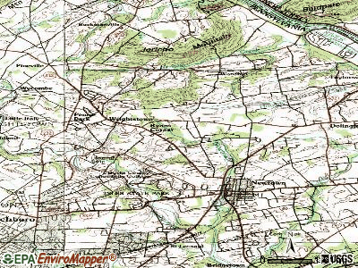Newtown Grant topographic map