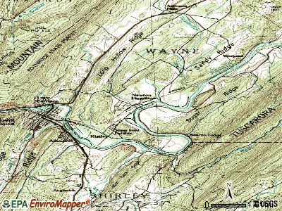 Nicholson topographic map