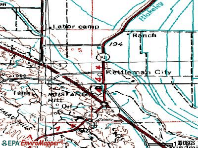 Klamath topographic map