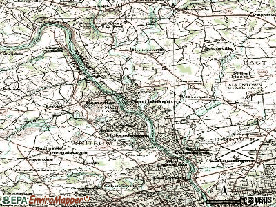 Northampton topographic map