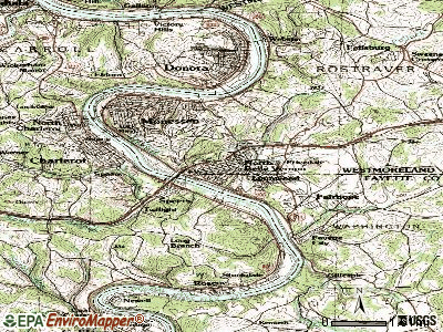 North Belle Vernon topographic map