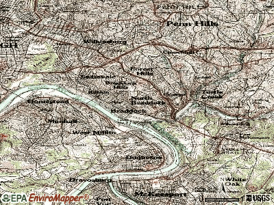 North Braddock topographic map