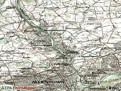 North Catasauqua topographic map