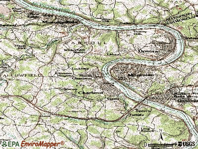 North Charleroi topographic map
