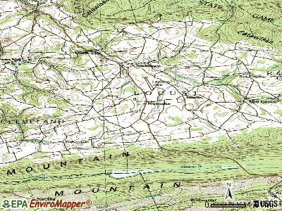 Numidia topographic map