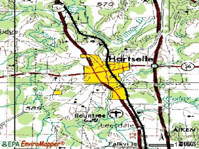 Hartselle topographic map