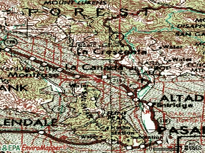 La Canada Flintridge topographic map