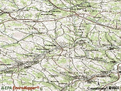 Oakdale topographic map