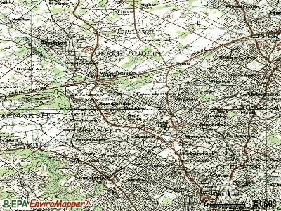 Oliver topographic map