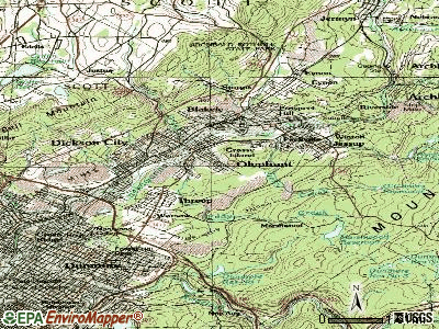 Olyphant topographic map